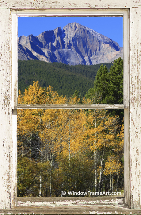Longs Peak Window View